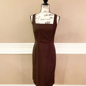 Ann Taylor Stretch Sheath Dress, Brown, Size 8